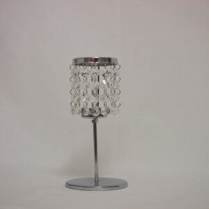 Crystal Jewelled tealight holder on pedestal