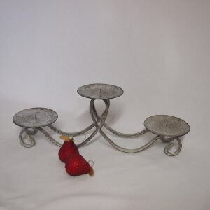 candelabra silver low 3 candle plates