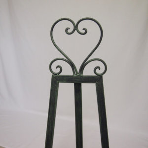 Green Heart Easel
