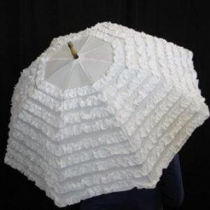 White Frill Umbrella
