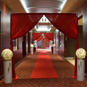 Hollywood Entrance Red Draping