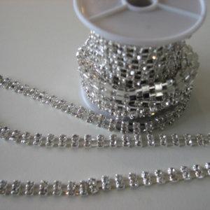 Silver Diamonte Chain