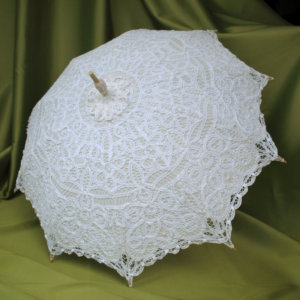 White Battenburg Parasol