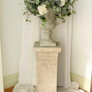 Decorated Urn on Pedestal