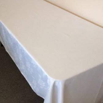 Rectangle White   300x135cm