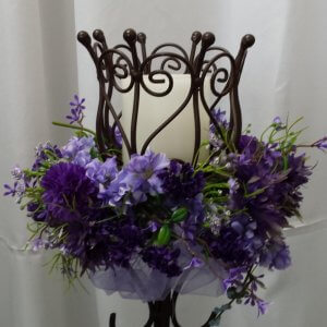 Purple Spring Flowers on Ella Basket
