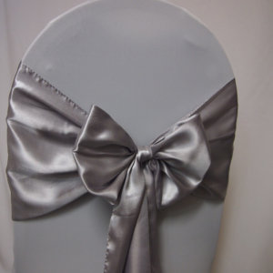 Silver Satin Sashes