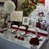 silver sequin table cover