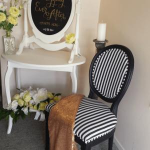 Vintage stripe chair