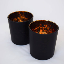 copper black candle holder