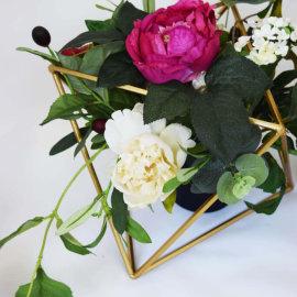 Geometric with flowers