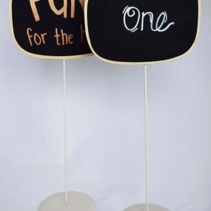 chalk board table numbers