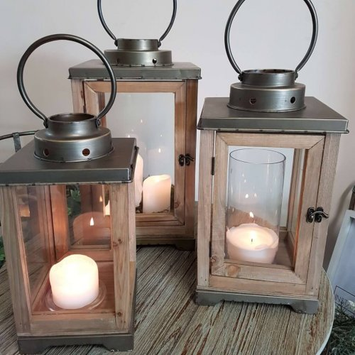 Wood Lanterns in three sizes