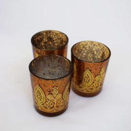 Gold Henna Tealights