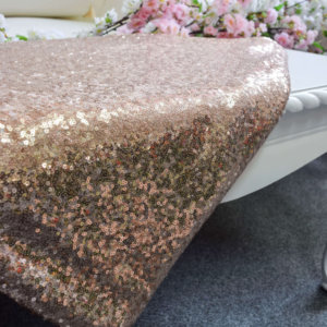 Rose Gold Sequin Table Cover