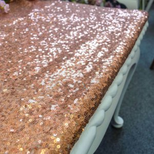 Copper Sequin Table Cover