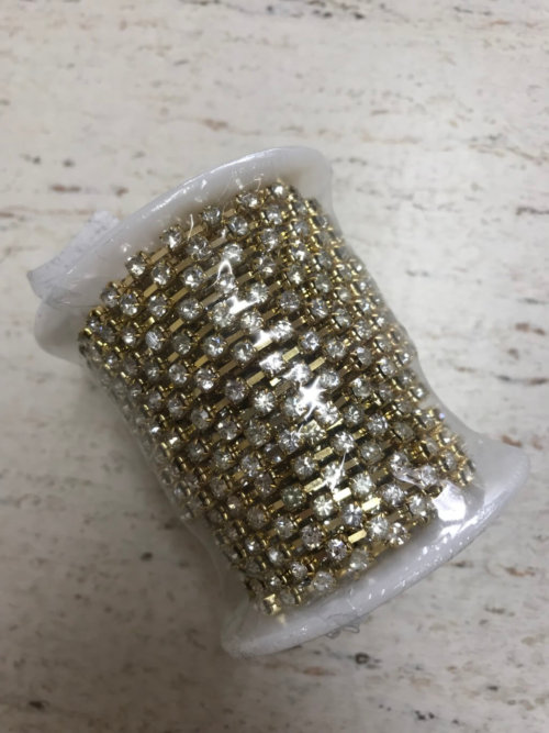 Gold Diamonte Chain