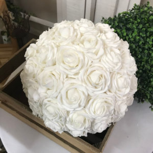 Extra Large White Rose Ball