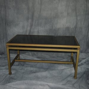 Gold Black Rectangle Coffee Table