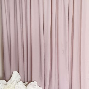 light blush pink drape