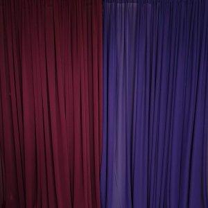 purple chiffon drape