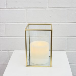 gold candleholder small