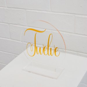 acrylic gold sticker table number