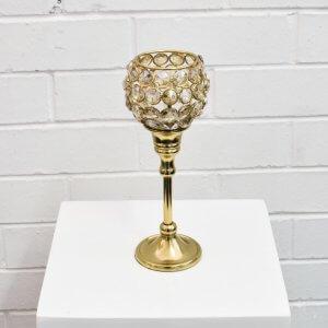 medium gold candlestick