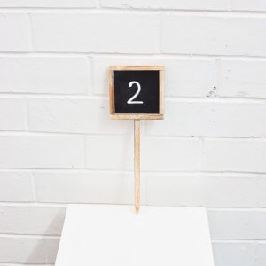 chalkboard table number on stick