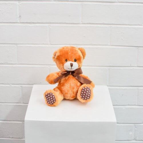 small light brown teddy bear