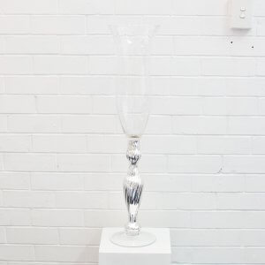 Silver Fluted Tall Vase