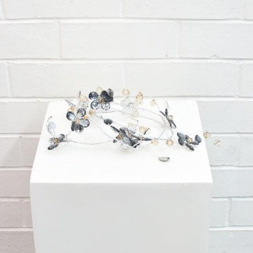 wire flower garland