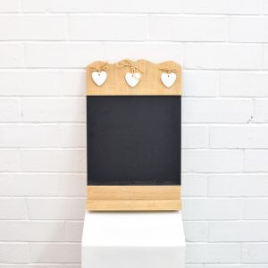Small Chalkboard with Heart Details