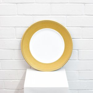 gold shimmer charger plates