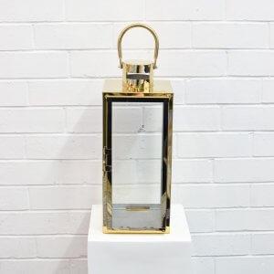 Modern Lantern Large Gold
