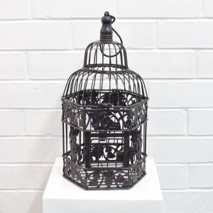 Medium Black Birdcage
