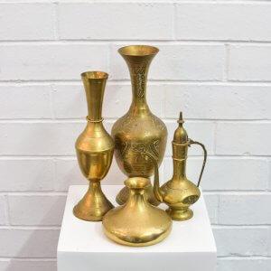 brassware vases