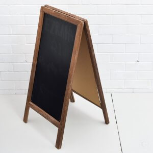 small brown chalkboard