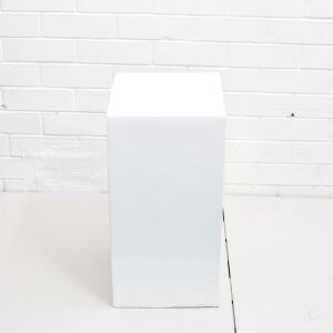 Small white plinth