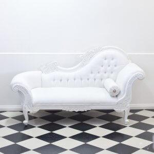 Cream Chaise Chair