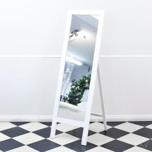 tall white mirror