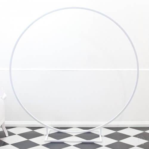 white circle frame