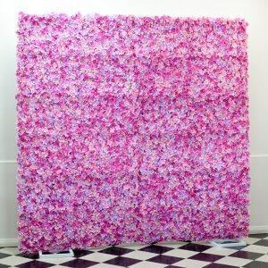 pink petal photo wall