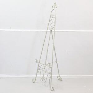 Cream Metal Floor Standing Easel