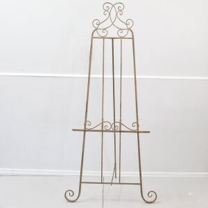 gold metal floor standing easel