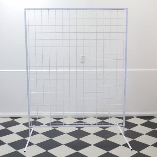 Wire Mesh Wall White