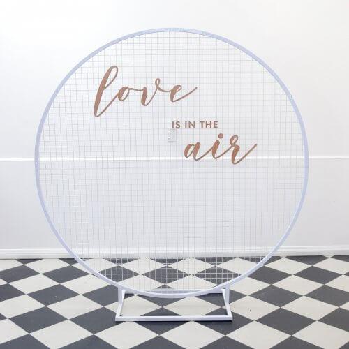 white mesh circle