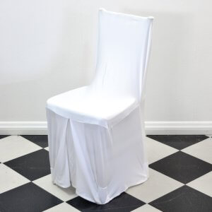 White Chair Cover Square Back