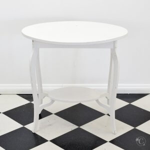 Vintage white oval table