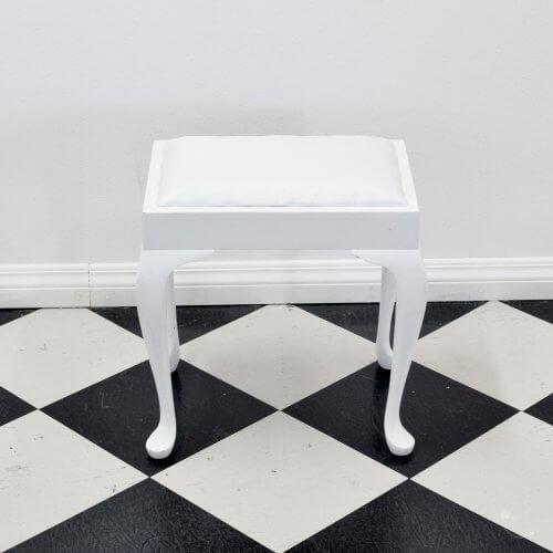 white-piano-stool